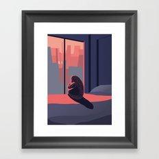 Just look outside Framed Art Print