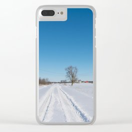 morning after the snowstorm Clear iPhone Case