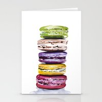 macarons Stationery Cards featuring Macarons by Bridget Davidson