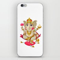 ganesh iPhone & iPod Skins featuring Ganesh by Danilo Sanino