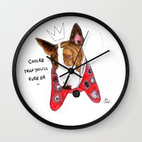 marc jacobs Wall Clocks featuring Neville Jacobs by Ash Tarek