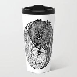 Yin Yang Owls Travel Mug