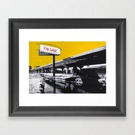 """Stencil Art - """"For Sale""""  Framed Art Print"""