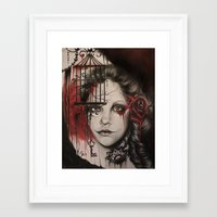 inner demons Framed Art Prints featuring INNER DEMONS by Sheena Pike ART