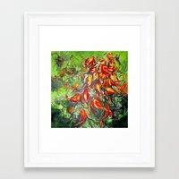 rush Framed Art Prints featuring Rush by Meggin O'Krepki