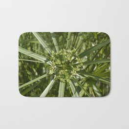 Green flower Bath Mat