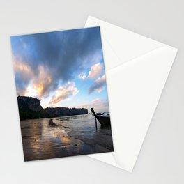 Ao Nang beach rabi at sunset Stationery Cards