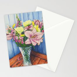 Baby Pink Lilies Stationery Cards