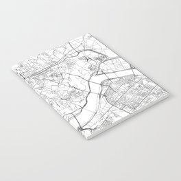 Seoul White Map Notebook