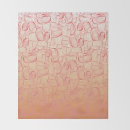 Coral Shells Throw Blanket