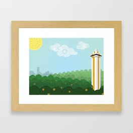 Gem of the Hills Framed Art Print