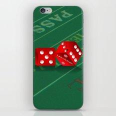 Craps Table & Red Las Vegas Dice iPhone Skin