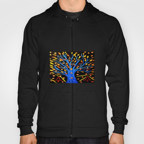 Blue tree/abstract Hoody