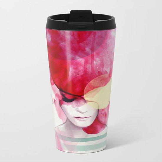 Bright Pink - Part 2 Metal Travel Mug