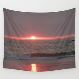 sun sleeping in the sea Wall Tapestry
