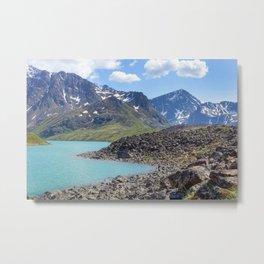 Alaska Glacial Lake Metal Print