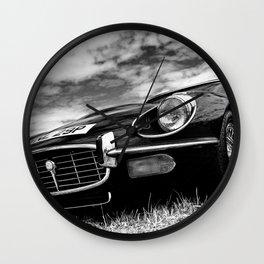E-Type Jaguar Classic Motor Car Wall Clock