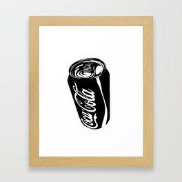 Ink Sketch - Coca-Cola Can Framed Art Print