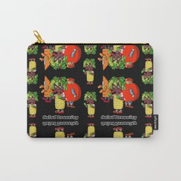 Vegan salad dressing Black Carry-All Pouch