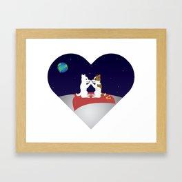 Belka and Strelka on the moon Framed Art Print