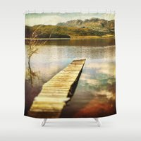 future Shower Curtains featuring Future by SpaceFrogDesigns