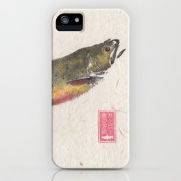 Pair of Brook Trout- Gyotaku iPhone Case
