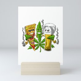 Weed Friends Party Mini Art Print