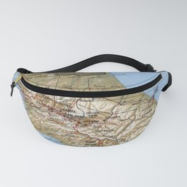 Costa Rica Map (1991) Fanny Pack