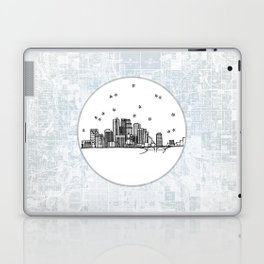 Minneapolis, Minnesota City Skyline Illustration Drawing Laptop & iPad Skin