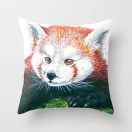 Red panda bear Throw Pillow