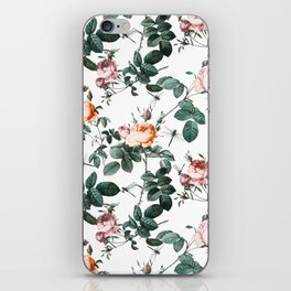 Floral and Winged Darter iPhone Skin