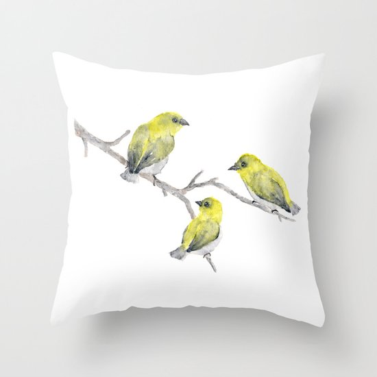Finch Bird Throw Pillow