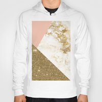 marble Hoodies featuring Gold marble collage by cafelab