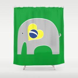 Brazilian Elephant 2 Shower Curtain
