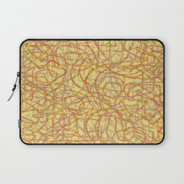 Yellow scribbled lines pattern Laptop Sleeve