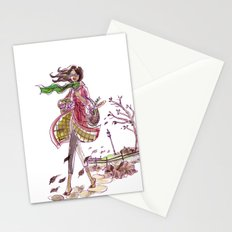Blowing Leaves Stationery Cards