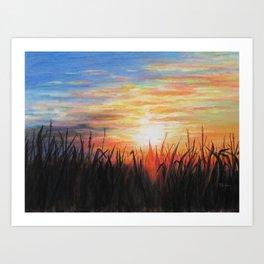Sunset Red Art Print