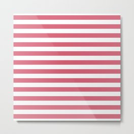 Large Nantucket Red Horizontal Sailor StripesLarge Nantucket Red Horizontal Sailor Stripes Metal Print