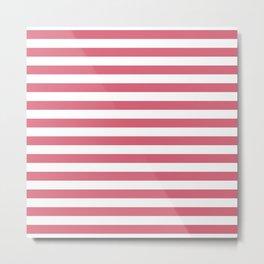 Large Nantucket Red Horizontal Sailor StripesLarge Nantucket Red Horizontal Sailor Stripes Metal Print