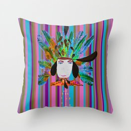 My Grandmother | Native American |Kids Painting |Pop Art Throw Pillow