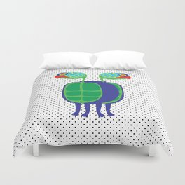 Animal Mardi Gras: Turtle Duvet Cover