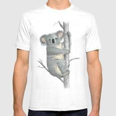 Koala White Mens Fitted Tee MEDIUM
