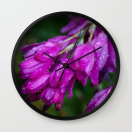 Purple Drops Wall Clock