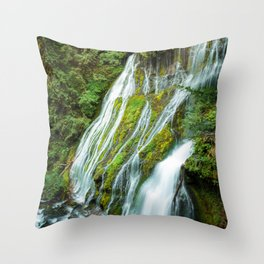 Panther Creek Falls Throw Pillow