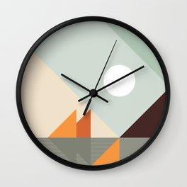 Geometric Landscape 24 Wall Clock