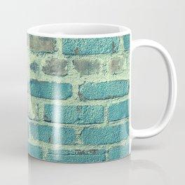 Vintage Retro Blue Bricks Coffee Mug