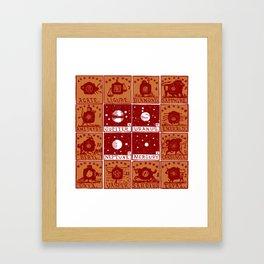 Twelve precious stones Framed Art Print