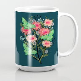 Luna Moth Florals by Andrea Lauren  Coffee Mug