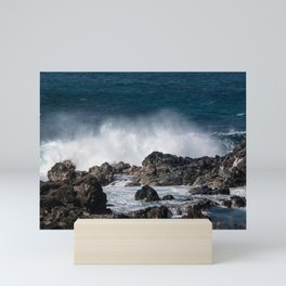 Lava Rock Ocean Spray Mini Art Print