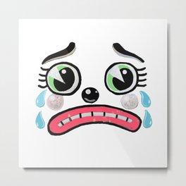 Sad Clown face Metal Print